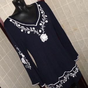 CATALOG CLASSIC Blue and white long sleeve size XL